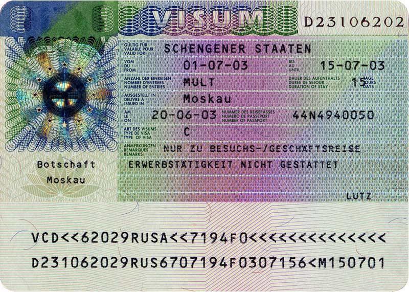 Как выглядит шенгенской виза
