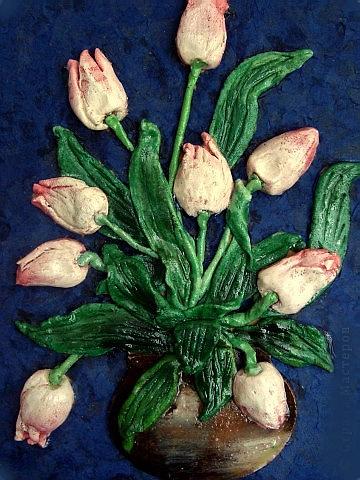 Тюльпаны из соленого теста своими руками пошаговая инструкция 85