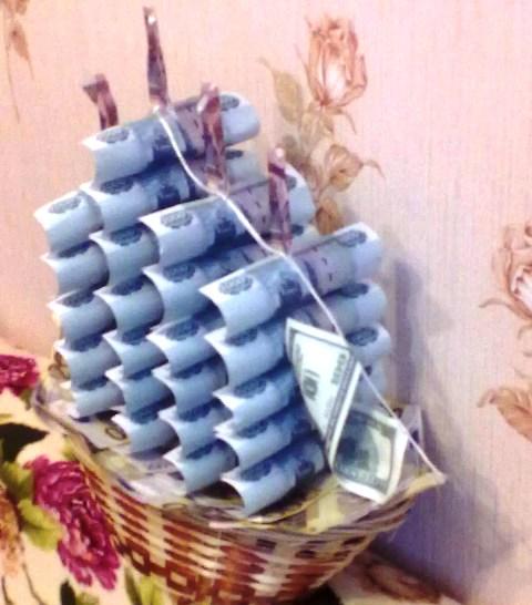 Как сделать подарок своими руками из денег фото