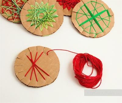 Как сделать из картона и ниток