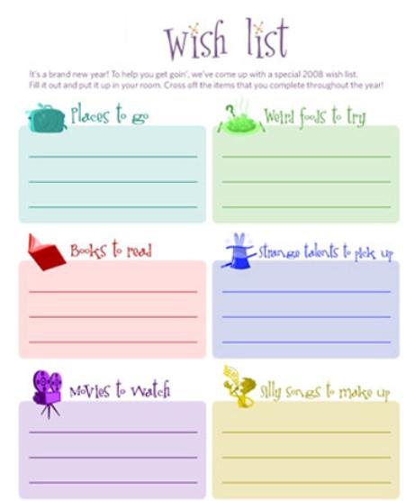 Виш лист подарков на день рождения пример 80