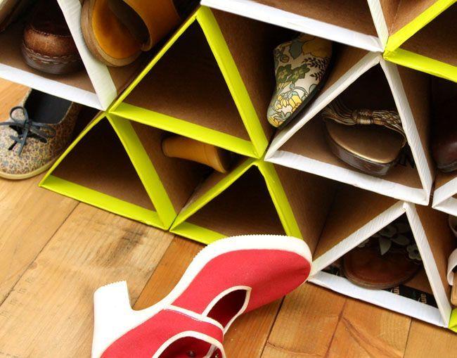 Подставка для обуви своими руками из коробок 89
