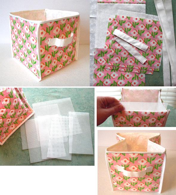 Текстильная коробка для хранения вещей своими руками
