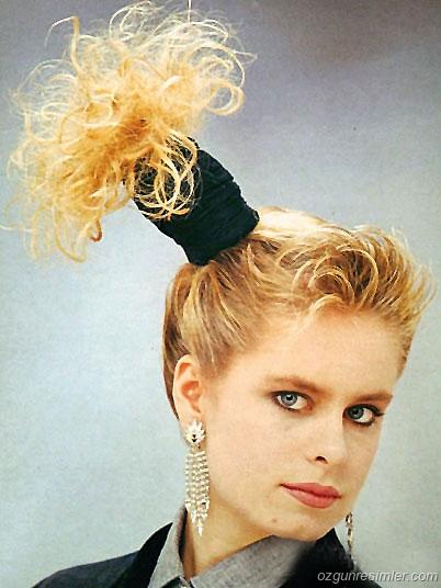 Фото прически в стиле 80 х