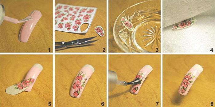 Как сделать наклейку для ногтей своими руками