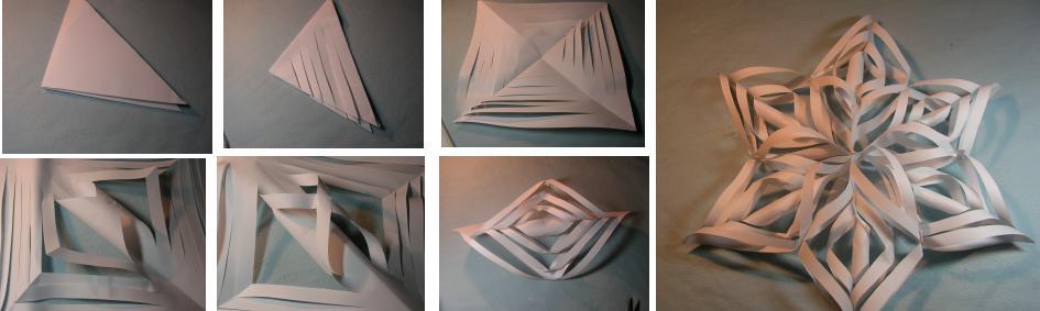 Как сделать снежинку 3д из бумаги поэтапно