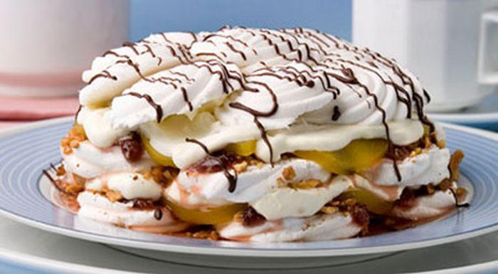 Торт из зефира со сгущенкой