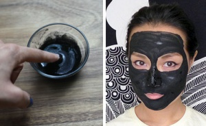маска из черного угля против прыщей
