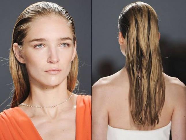 Как прическу эффект мокрых волос