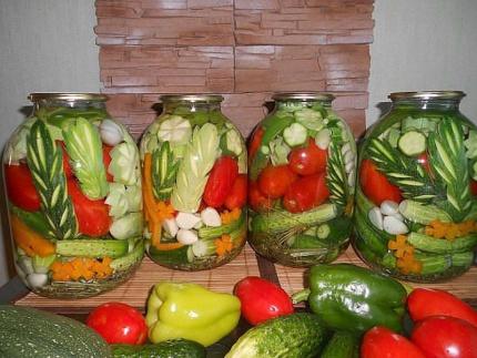 Заготовки из овощей на зиму