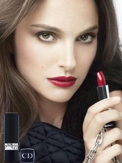 c790ce7ac5ca Натали Портман - рекламное лицо помады Rouge Dior