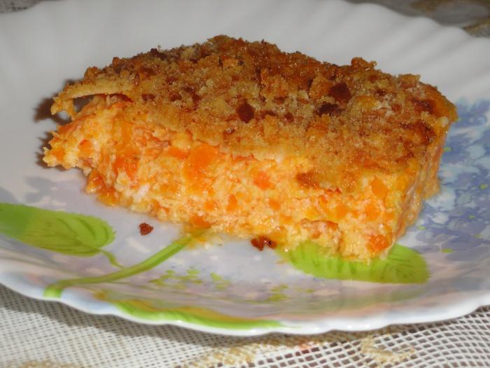 Диетическая морковная запеканка рецепт с пошагово