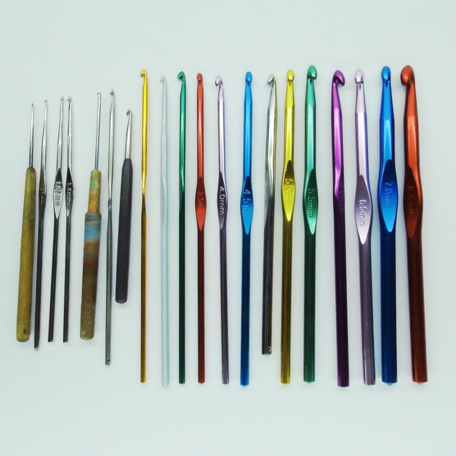 Каких размеров есть крючки для вязания