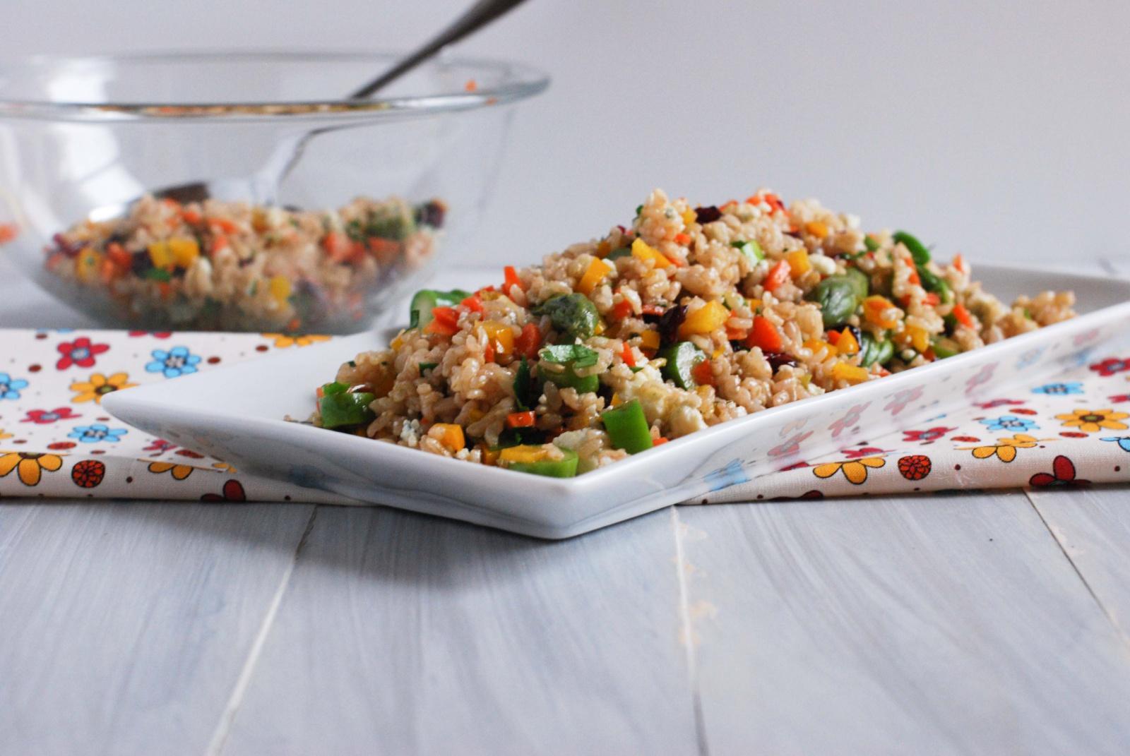 Салат с бурым рисом рецепт